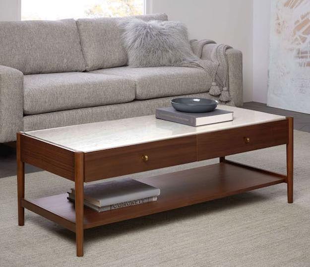 Storage Narrow Coffee Table 15 Narrow Coffee Table Ideas For