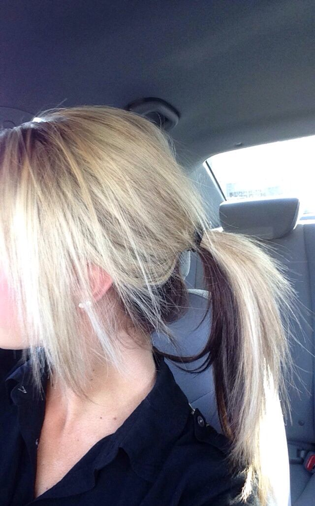 Half Blonde Half Brown Brown Underneath Blonde Hair Color