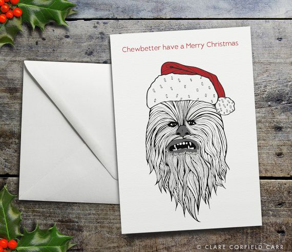 Funny Star Wars Christmas Card Chewbacca Chewbetter Etsy Funny Christmas Cards Star Wars Christmas Christmas Cards