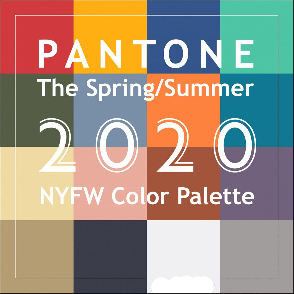 Valentine S Day Sale And Pantone Spring 2020 Colors Jacket Society Color Trends Fashion Summer Color Palette Spring Color Palette
