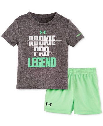 b86ee14250 Under Armour Baby Boys' 2-Pc. Rookie Pro Legend T-Shirt & Shorts Set ...