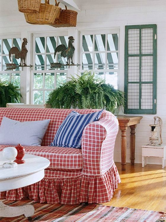 Hooked On Houses A Fun Place To Get Your House Fix Country Living Room Design French Country Living Room Country Living Room #red #and #white #living #room #ideas
