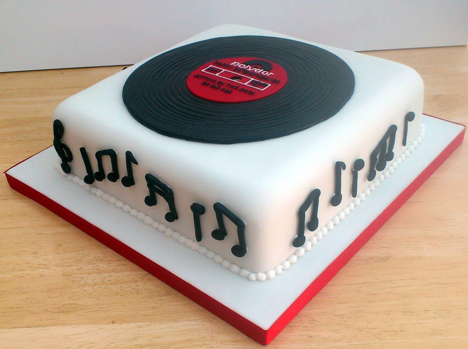 Old Vinyl Record Novelty Birthday Cake Susie S Cakes Music Birthday Cakes Music Cakes Novelty Birthday Cakes
