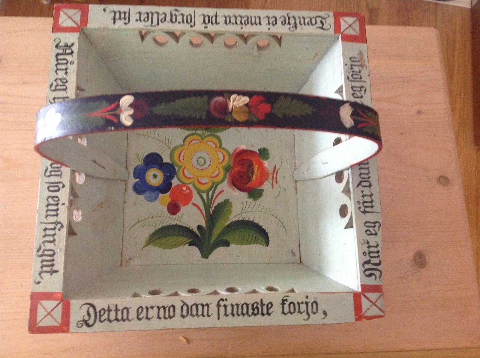 (2) FINN – Rosemalt Sendingskurv