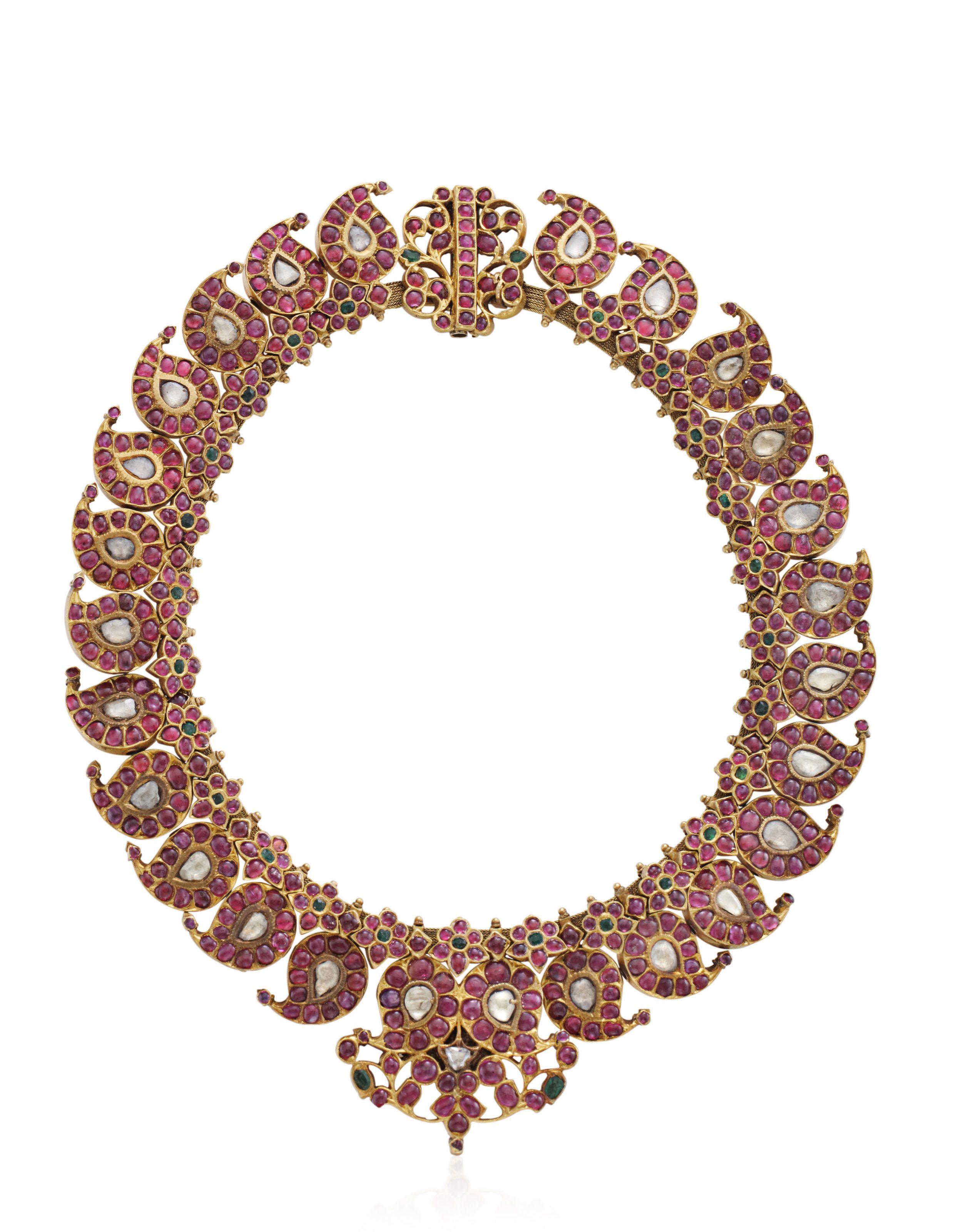 Diamond and gemset indian necklace emeralds pinterest indian