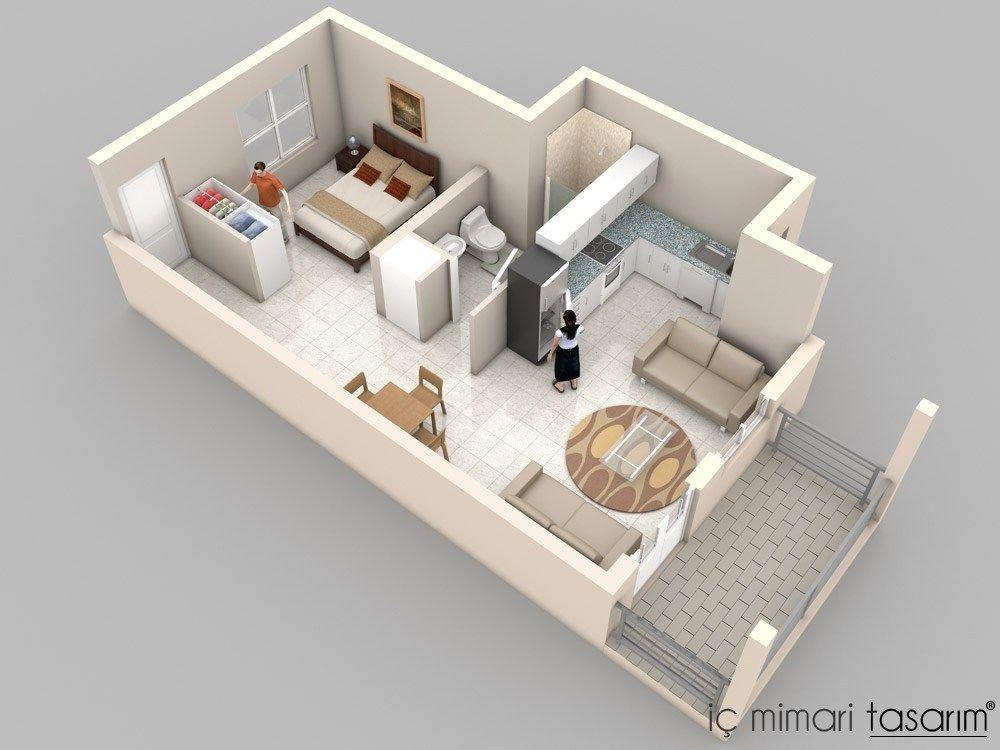 daire-kat-planlari (24) casa containers Pinterest Diseños de