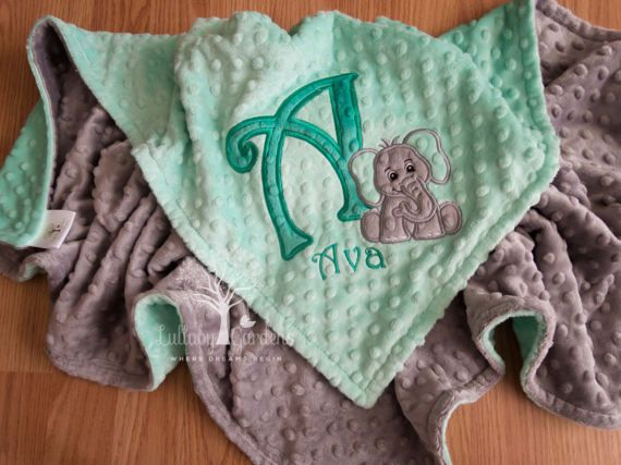 Personalized baby gifts minky baby blanket elephant minky blanket personalized baby gifts minky baby blanket elephant minky negle Images