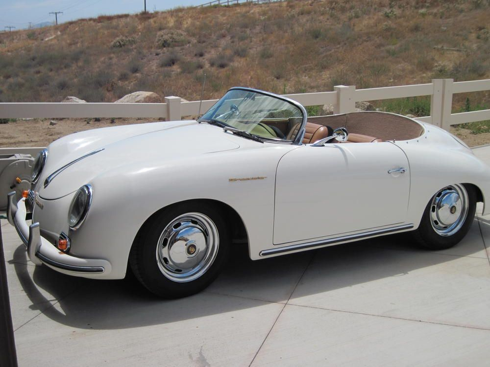 Porsche 356 Speedster Kit Car White With Tan Dream Car