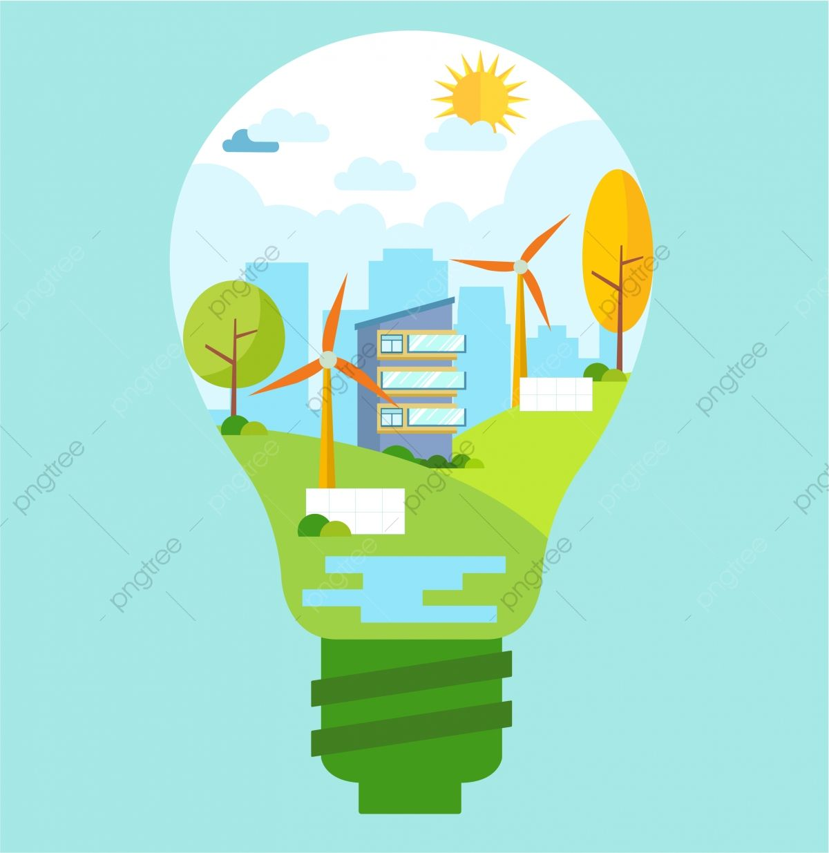 Energy Eco City Png And Vector With Transparent Background For Free Download Energy Logo Web Design Logo Save Energy Poster
