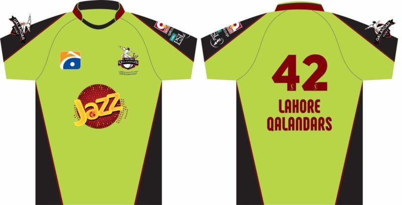 Psl 2017 Official Lahore Qalandars T-Shirt Pak Super League Half