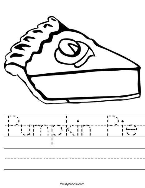 Pumpkin Pie Worksheet - Twisty Noodle | Pie worksheets