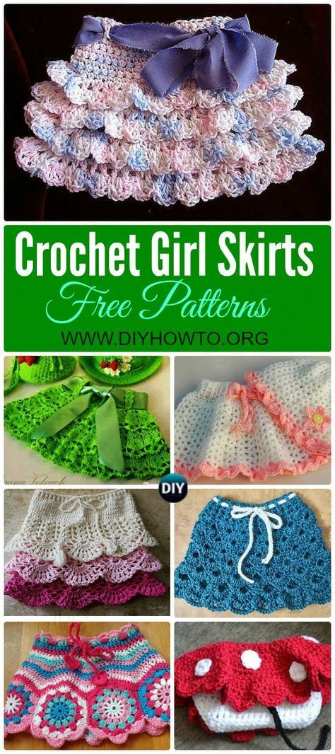 Crochet Girl\'s Skirt Free Patterns | Mamá y Galerías