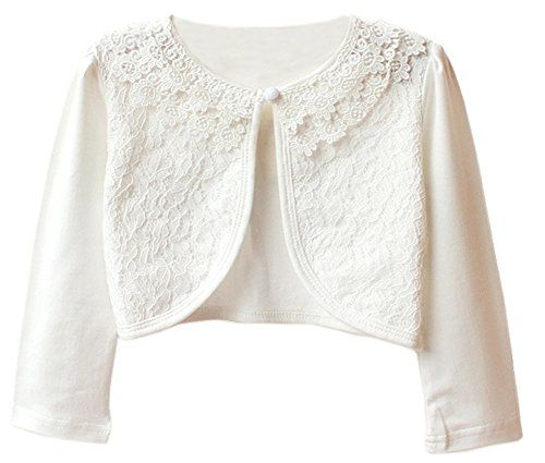 Zhuannian Little Girls' Long Sleeve Lace Bolero Cardigan ... https ...