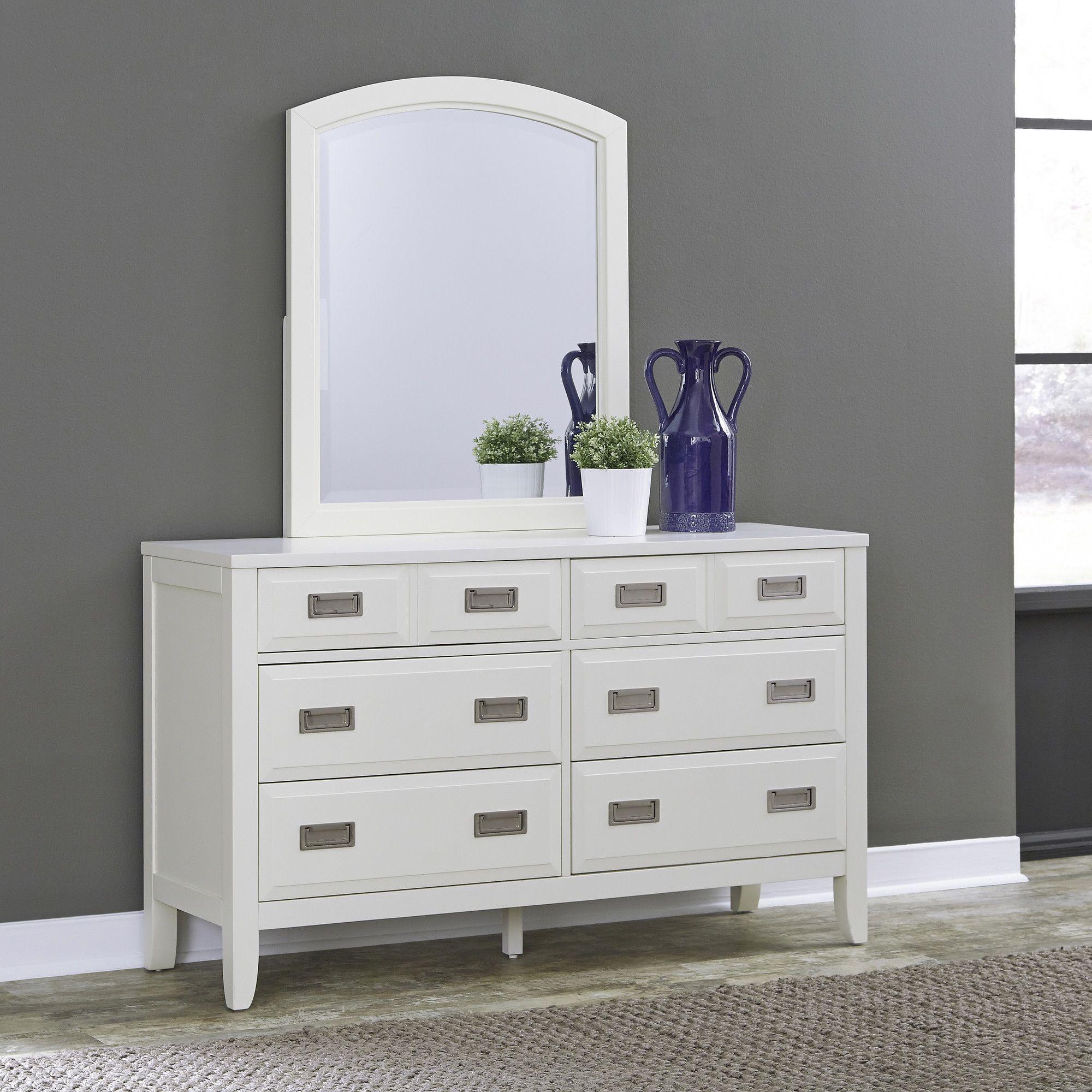 Newport 6 Drawer Dresser with Mirror Dresser with mirror