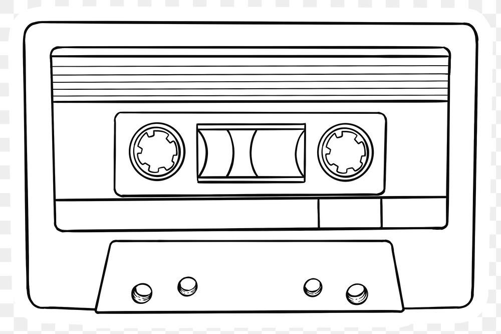 Sticker White Cassette Tape Png Sticker Free Image By Rawpixel Com Noon Cassette Tapes Cassette Music Stickers