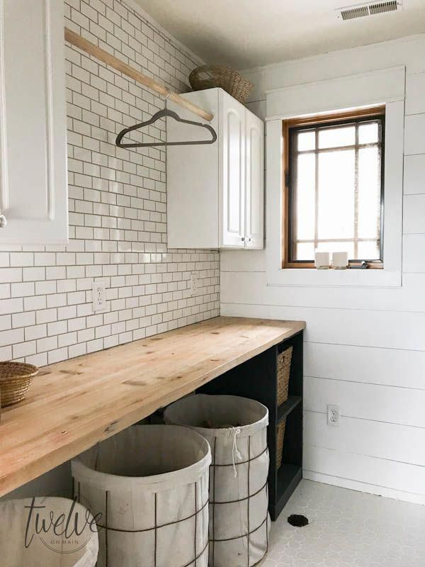 My Farmhouse Laundry Room - One Year Later #laundryrooms