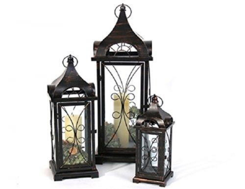 metall laterne ravello antik braun h he 70cm breite 24cm gro e laterne ebay lanterns. Black Bedroom Furniture Sets. Home Design Ideas