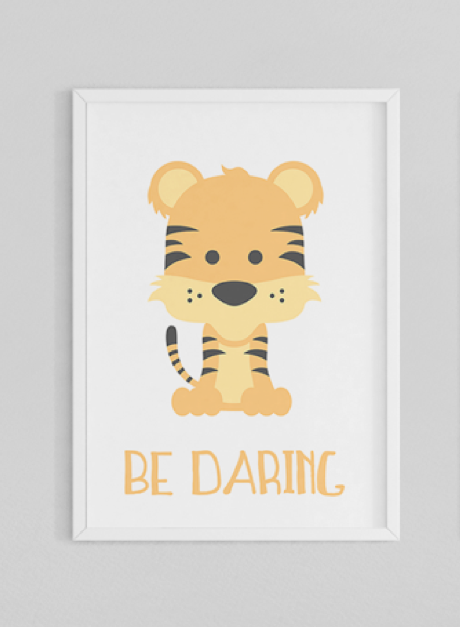 Animal Prints | Zoo Animals | Nursery Art | Strong Daring Bold | Set ...