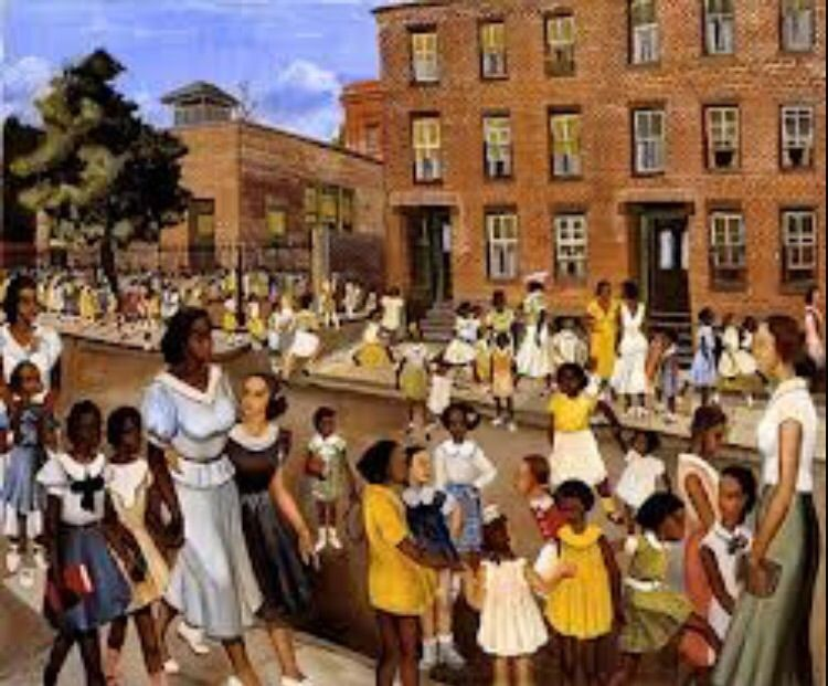 This painting was drew by a black man,it symbolizing his