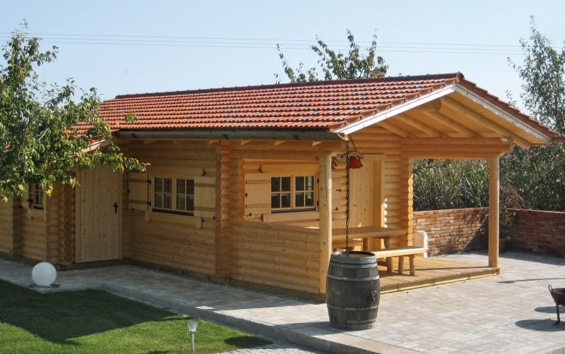 Gartenhaus P12 11 Cm Rundstamme Outdoor Decor Patio Outdoor Structures