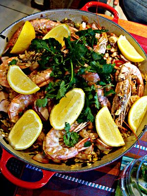 paella...must get to Cafe Rio Blanco for Paella Night