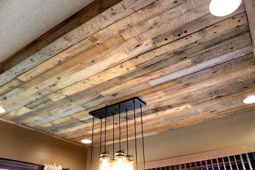 Reclaimed Wood Ceiling Detail Fargo Nd Panels Ceilings Paneling