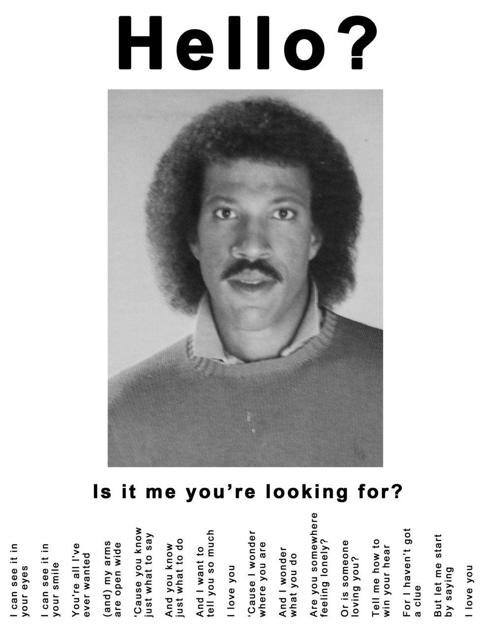 Lionel Richie Hello Meme : lionel, richie, hello, Lionel, Richie, Hello?, You're..., Richie,, Hilarious,, Laugh