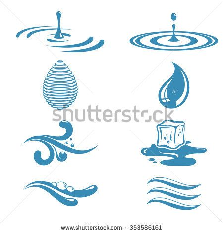 Objects Symbolizing Water Waves Symbol Water Symbol Doodle Art Designs