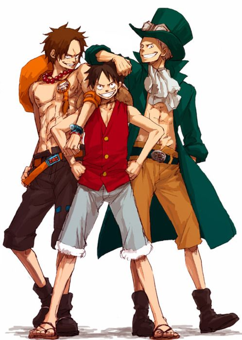 Sabo,Portgas D. Ace,Monkey D. Luffy - One Piece,Anime ...