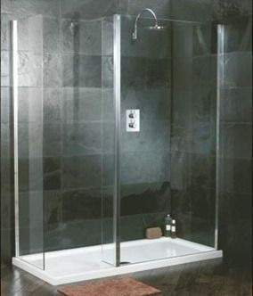 photos of walk in showers. Walk in showers  tricky to make them work with that vintage farmhouse feel
