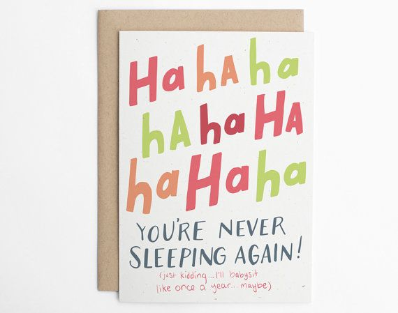 Funny New Baby Card - New Baby Card -Congratulations Card, Baby