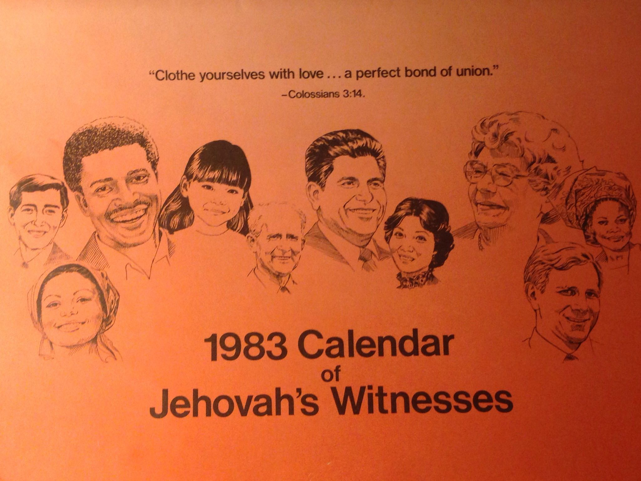 Jw Calendar 1983 With Images Jehovah S Witnesses Calendar