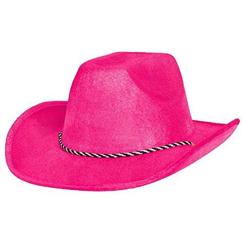 e59352855dd66 Cowboy Hat in Black light Reactive Neon Pink Color Night ...