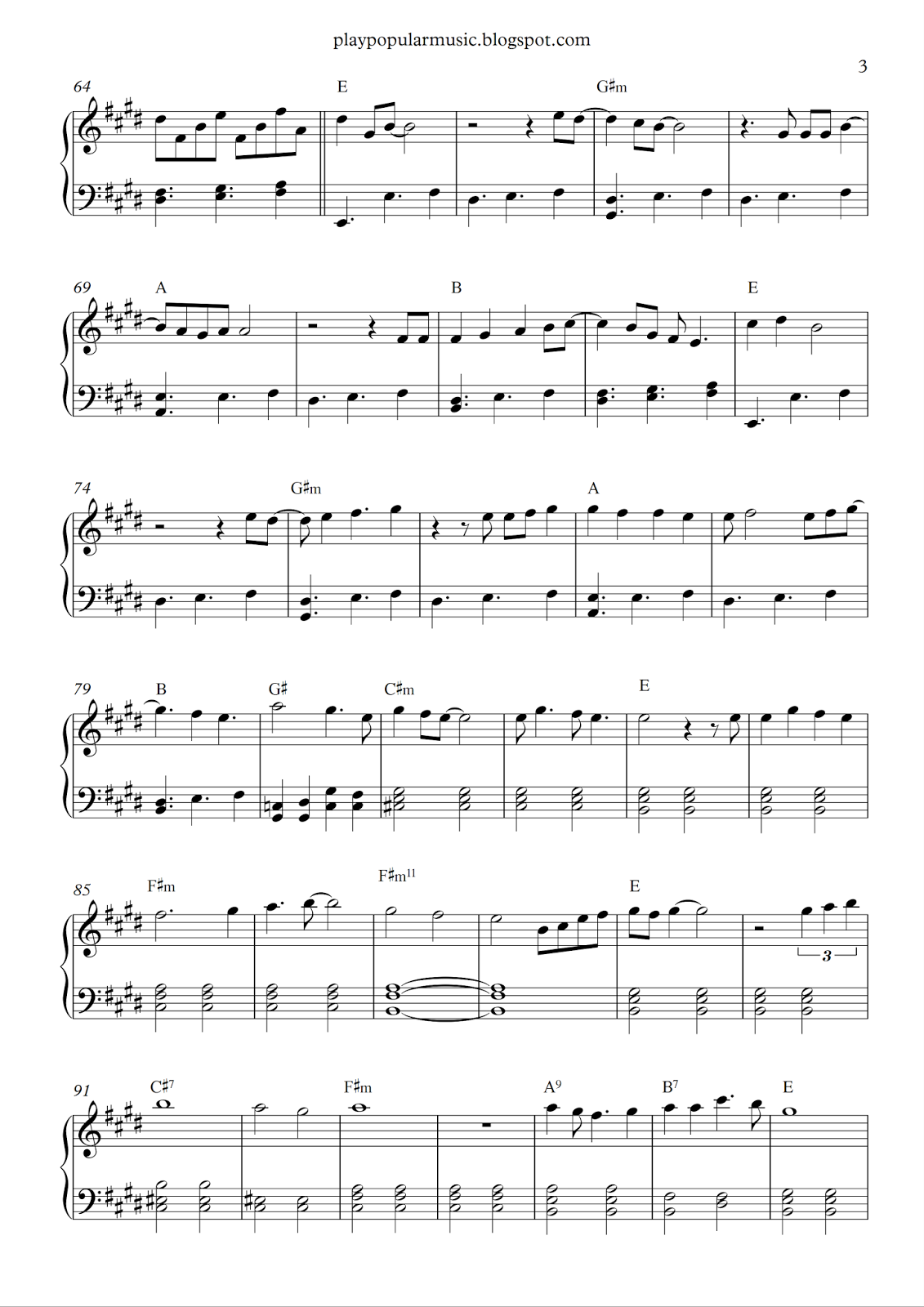 adele sheet music free pdf