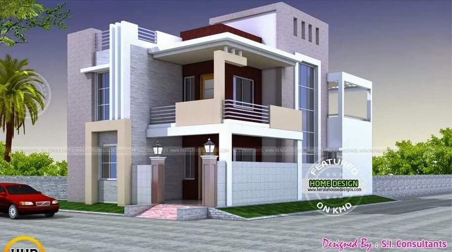 Box houses Kerala house design, Home stairs design