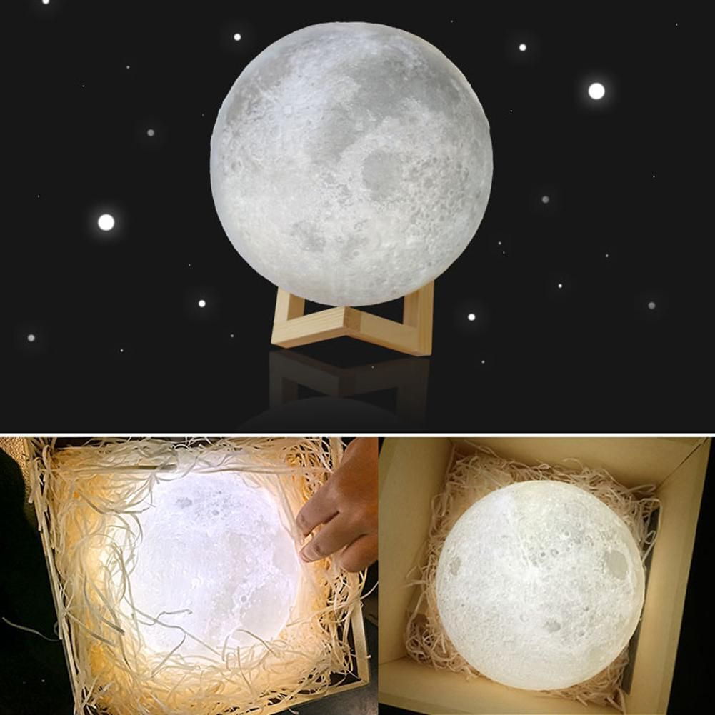 Enchanting 3d Print Led Moon Light Touch Switch Led Lamp Moon Nightlight Moon Light Lamp Night Light Lamp
