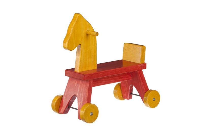 Toddler Ride On Horse Amish Handcrafted Wood Walker Toy