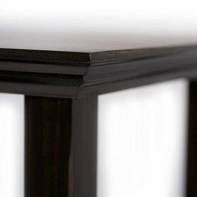 Amazing Halifax Solid Wood Console Sofa Table Dark Brown Camellatalisay Diy Chair Ideas Camellatalisaycom