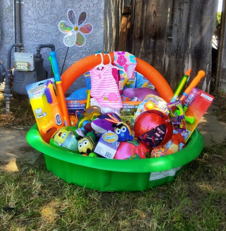 Swimming pool easter basket just fasten the noodle to the pool and swimming pool easter basket just fasten the noodle to the pool and fill the bottom with negle Image collections