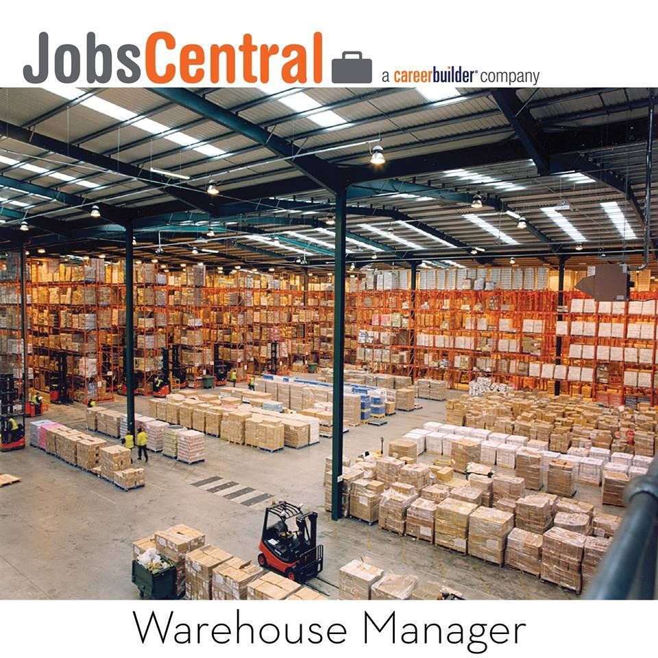 100glamorousjobs #jobs #career #warehouse #manager by #jobscentral
