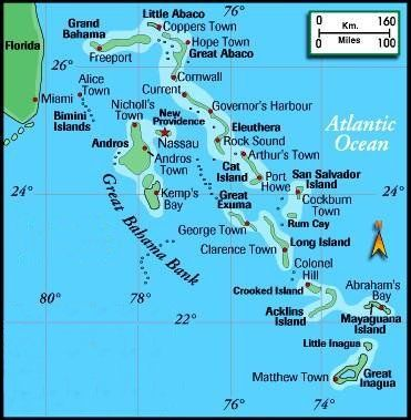 Map of The Bahamas. Bahamas Pictures and Maps. | Vacation ...