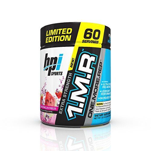 Bpi Sports 1mr One More Rep Ultra Concentrated Pre Workout Powder Watermelon 60 Servings 85 Oz Bpi Sports Preworkout Workout