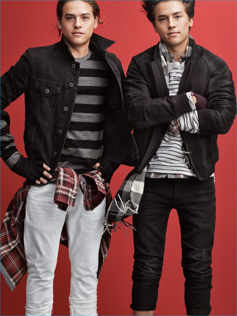 American eagle 2016 holiday campaign dylan sprouse campaign and brothers cole and dylan sprouse charm in american eagles holiday 2016 campaign kristyandbryce Choice Image
