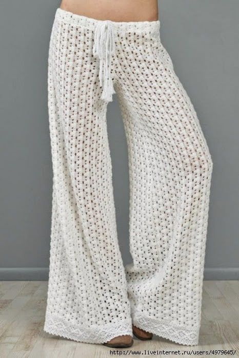 Diagrama para aprender a tejer pantalón calado a crochet o ganchillo ...