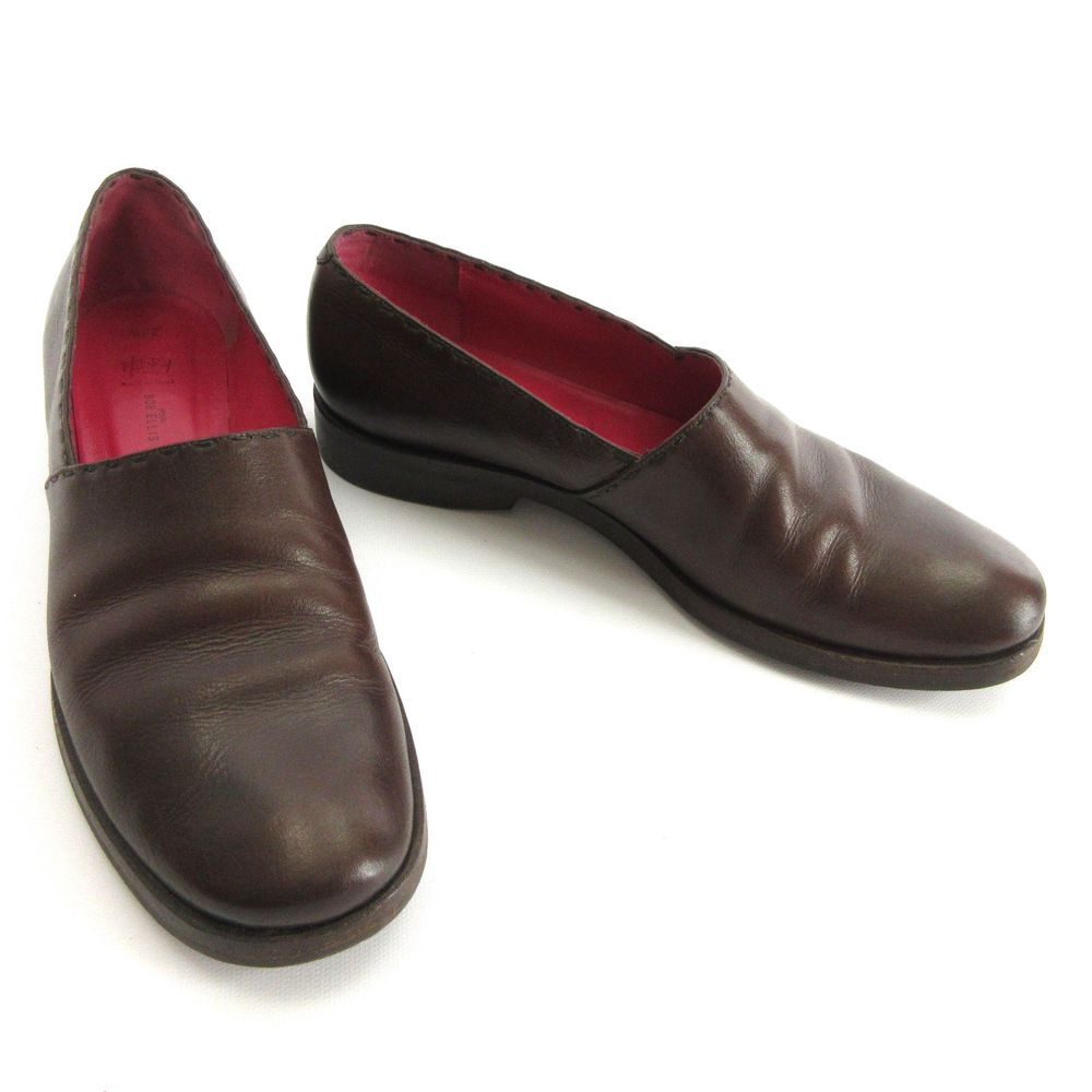 36a2e3629a7 Henry Cuir Bob Ellis 8.5 - 9 US 38.5 Brown Leather Loafer Slip On Shoes  Italy