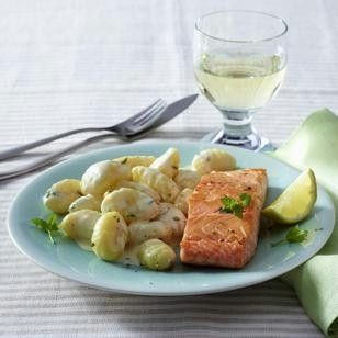 """Photo of Lachs mit Gnocchi in Zitronensoße    """"Fish varieties took their place in the st…"""
