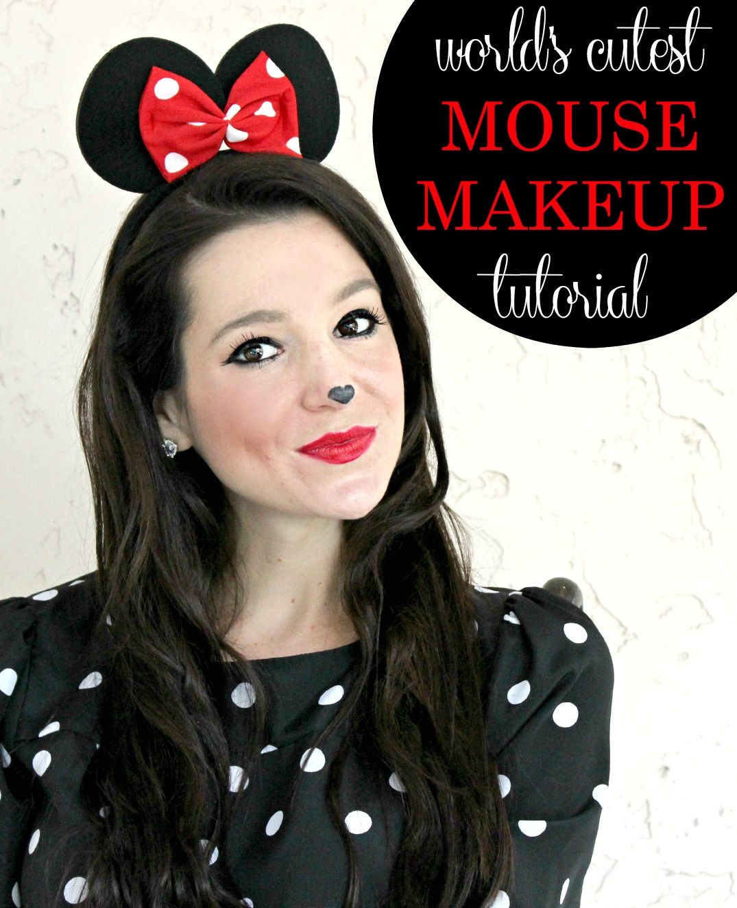 simple minnie mouse makeup tutorial for halloween - Make Your Own Halloween Makeup