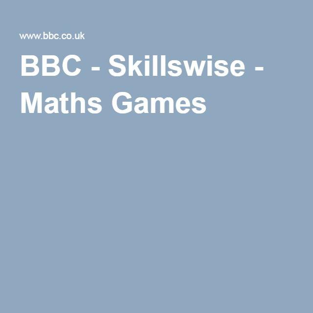 BBC - Skillswise - Maths Games | Math Websites | Pinterest | Math ...
