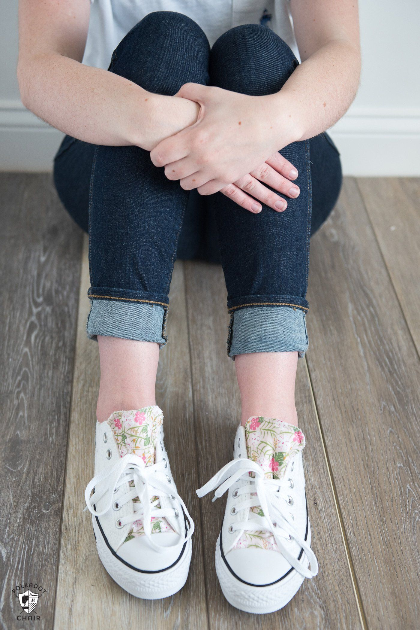 809cf3e998ab How to customize your converse with fabric - a DIY way to decorate the  tongue of your converse shoes. How to add fabric to shoes  DIYfashion   DIYConverse ...