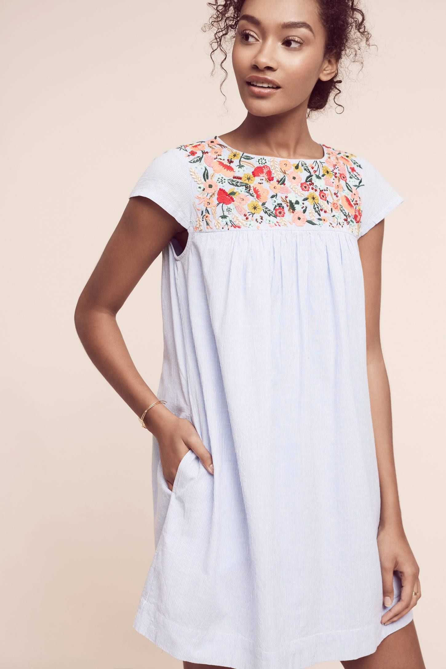 Chrissy Embroidered Tunic Dress